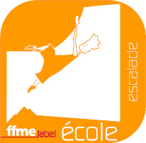 Logo label ecole escalade ffme